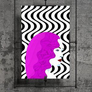 Purple Beauty Illustration Print